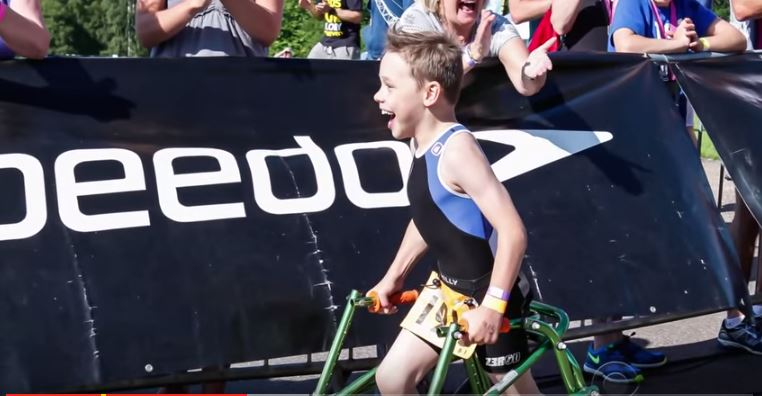 Bailey Matthews Age 8 With Cerebral Palsy Completes Triathlon